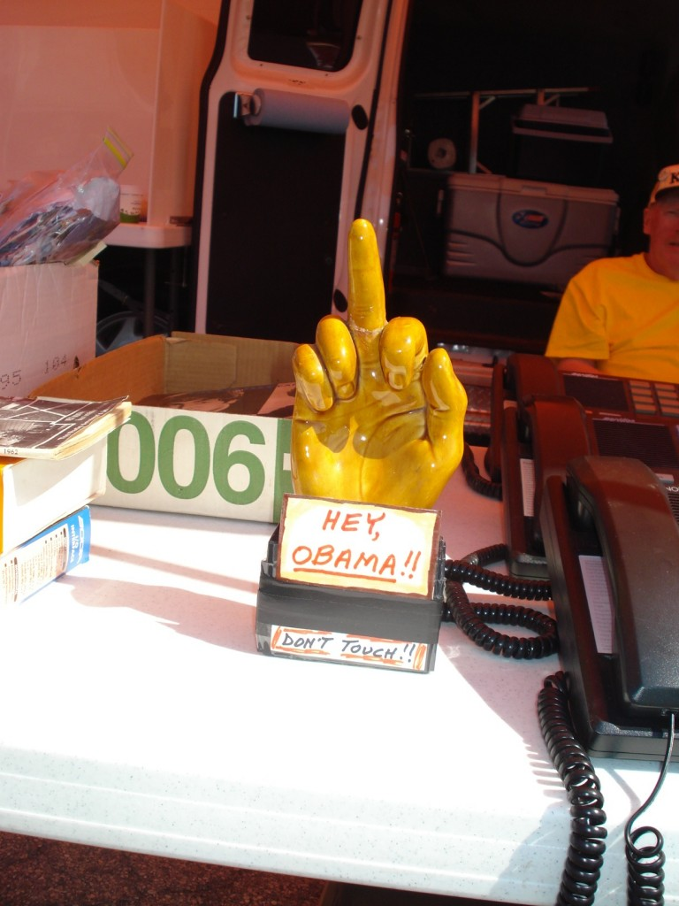 K8BL Statue On Hamvention table